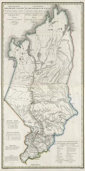 Карта Енисейской губернии 1821 года